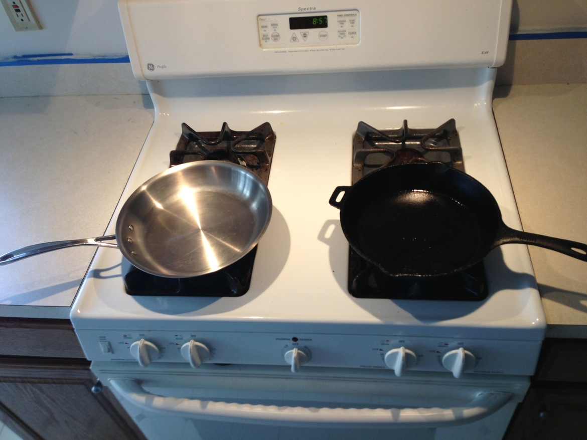 cast iron vs stainless steel cookware. Black Bedroom Furniture Sets. Home Design Ideas